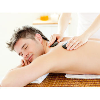 Hot stones back massage for your whole body